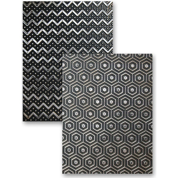 M-Bossabilities Reversible A2 Embossing Folder-So Trendy