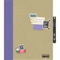 Brown Pretty Pocket SMASH Paper Folio with Embossed Chipboard Cover