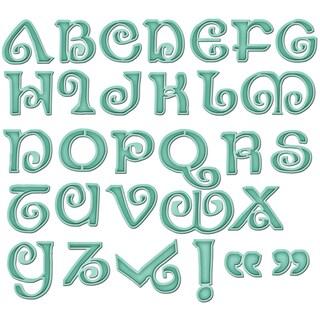 Spellbinders Grand Calibur Shapeabilities Dies-Jewels Alphabet
