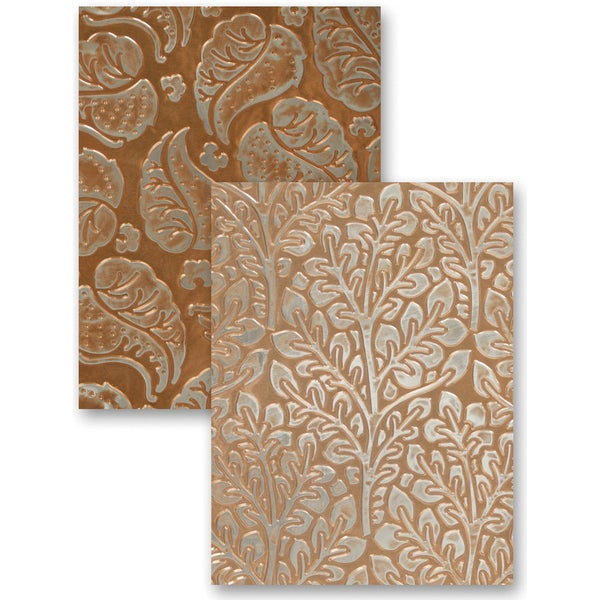 M-Bossabilities Reversible A4 Embossing Folder-Flora