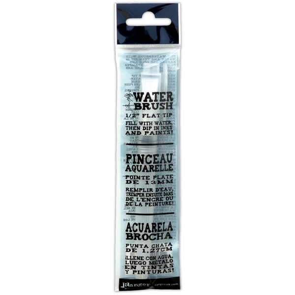White Water Brush from Tim Holtz - Broad Brush Nib With Protective Cap