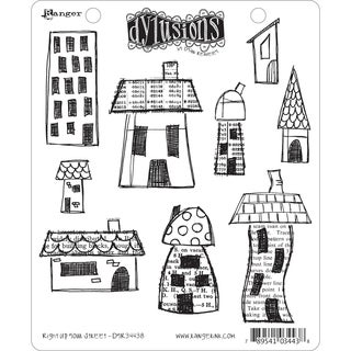Dyan Reaveley's Dylusions Cling Stamp Collection-Right Up Your Street