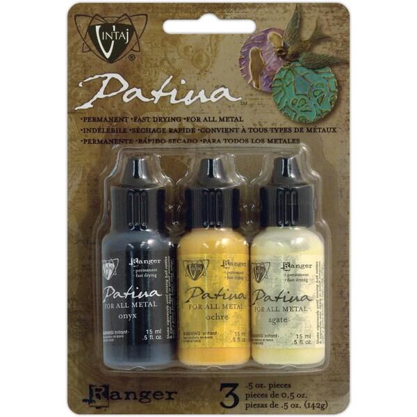 Vintaj Patina Kit - Retro Highway - Onyx/Ochre/Agate Fast-drying Ink