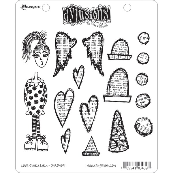 Dyan Reaveley's Dylusions Cling Stamp Collection-Love Struck Lucy