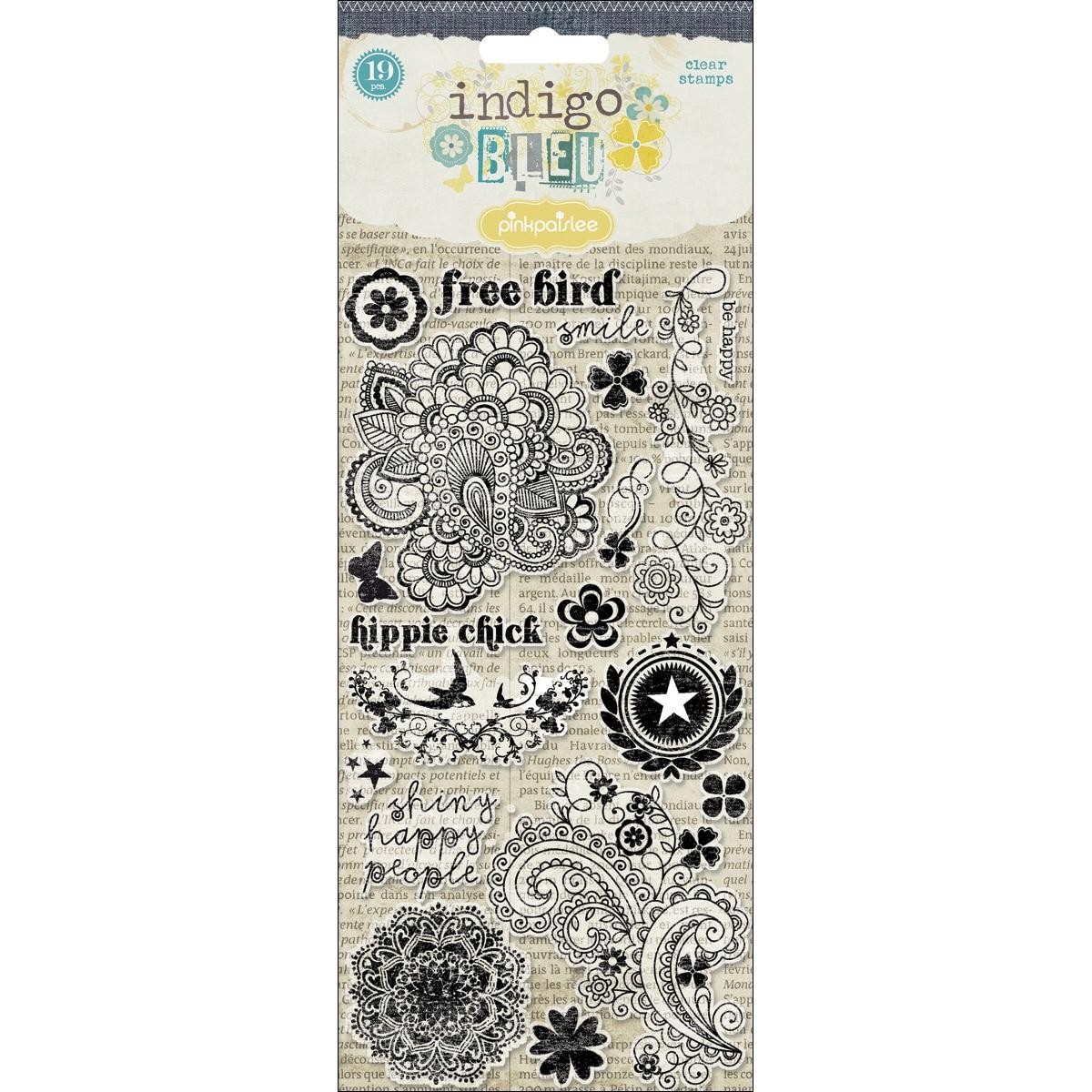 Indigo Bleu Clear Stamps