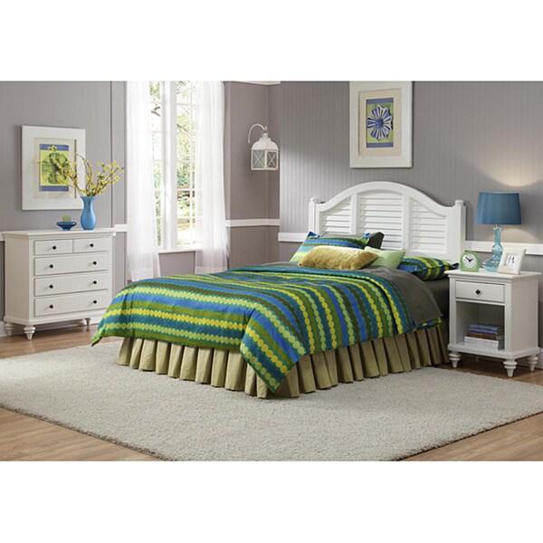Bedroom Furniture Sets Sale Online: Shop Bermuda Brushed White Queen Headboard, Nightstand