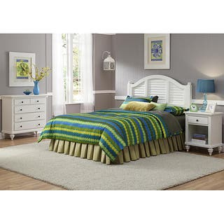 Bermuda Brushed White Queen Headboard, Nightstand, and Chest Bedroom Set by Home Styles|https://ak1.ostkcdn.com/images/products/6721547/P14270144.jpg?impolicy=medium