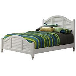 Bermuda Queen Bed and Night Stand Brushed White Finish by Home Styles - Thumbnail 1
