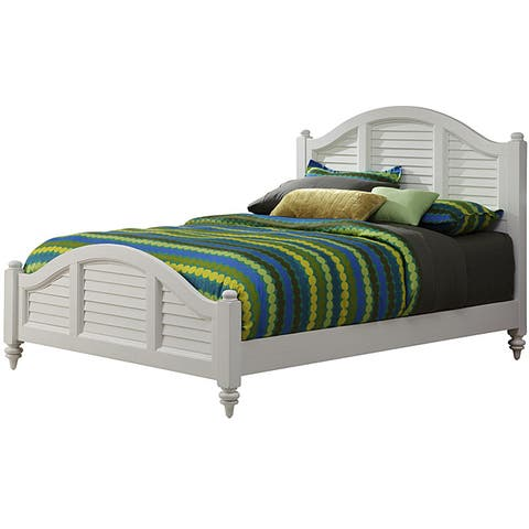Bermuda Queen Bed Brushed White Finish by Home Styles