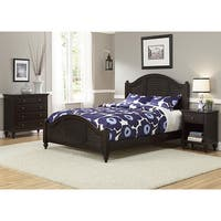 Bermuda Queen Bed, Night Stand, and Chest Espresso Finish by Home Styles
