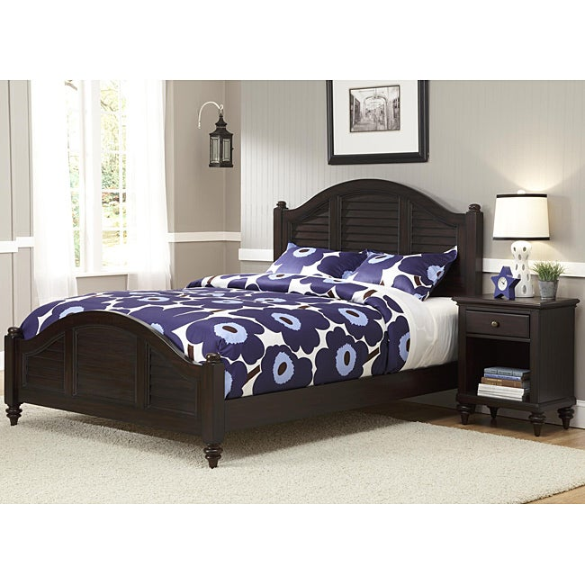 Home Styles Bermuda Queen Bed and Night Stand Espresso Finish