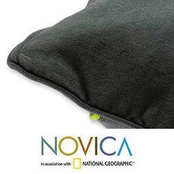 Handcrafted Cotton 'Urban Rainbow' Cushion Cover (Guatemala) - Thumbnail 1