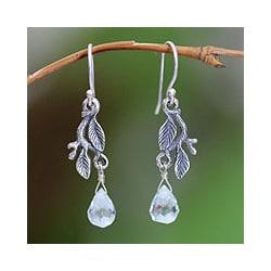 Sterling Silver 'Blue Rainforest' Earrings (Indonesia)