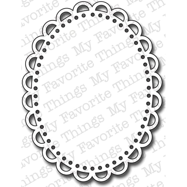 Die-Namics Die-Oval Open Scallop Doily