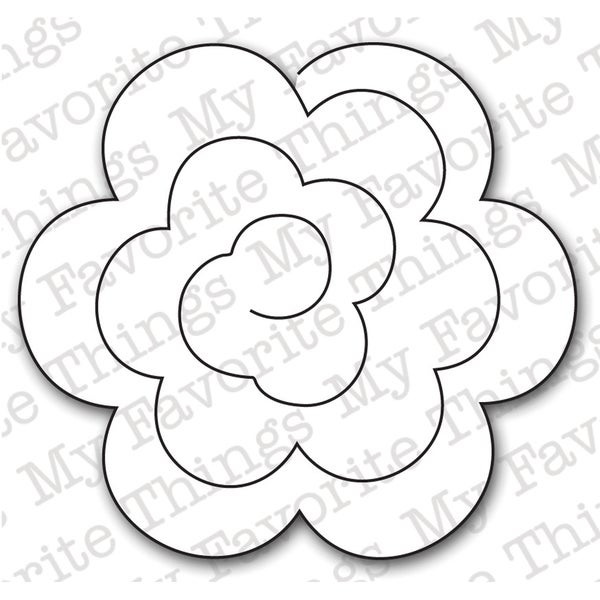 Die-Namics Die-Rolled Rose