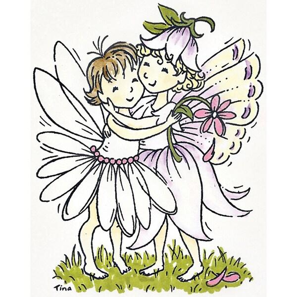Stampavie Tina Wenke Clear Stamp-A Fairy Hug