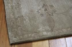 Nourison Hand-tufted Superlative Grey Rug (9'6 x 13'6) - Thumbnail 1