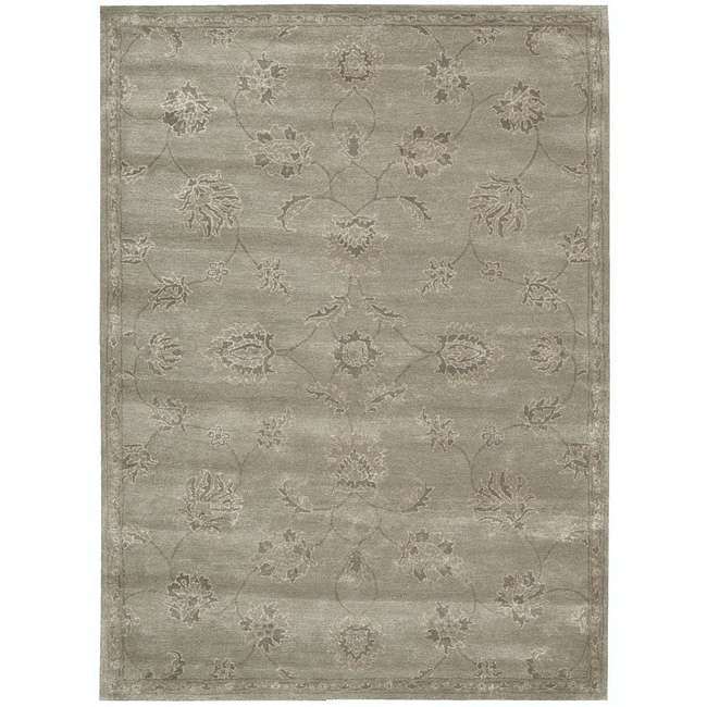 Nourison Hand-tufted Superlative Grey Rug (9'6 x 13'6) - Thumbnail 0