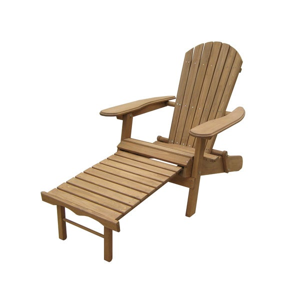 Merry Products Foldable Adirondack Chair With Pull Out