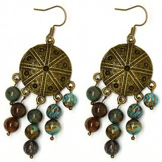 Pretty Little Style Chandelier Agate Stone Earrings