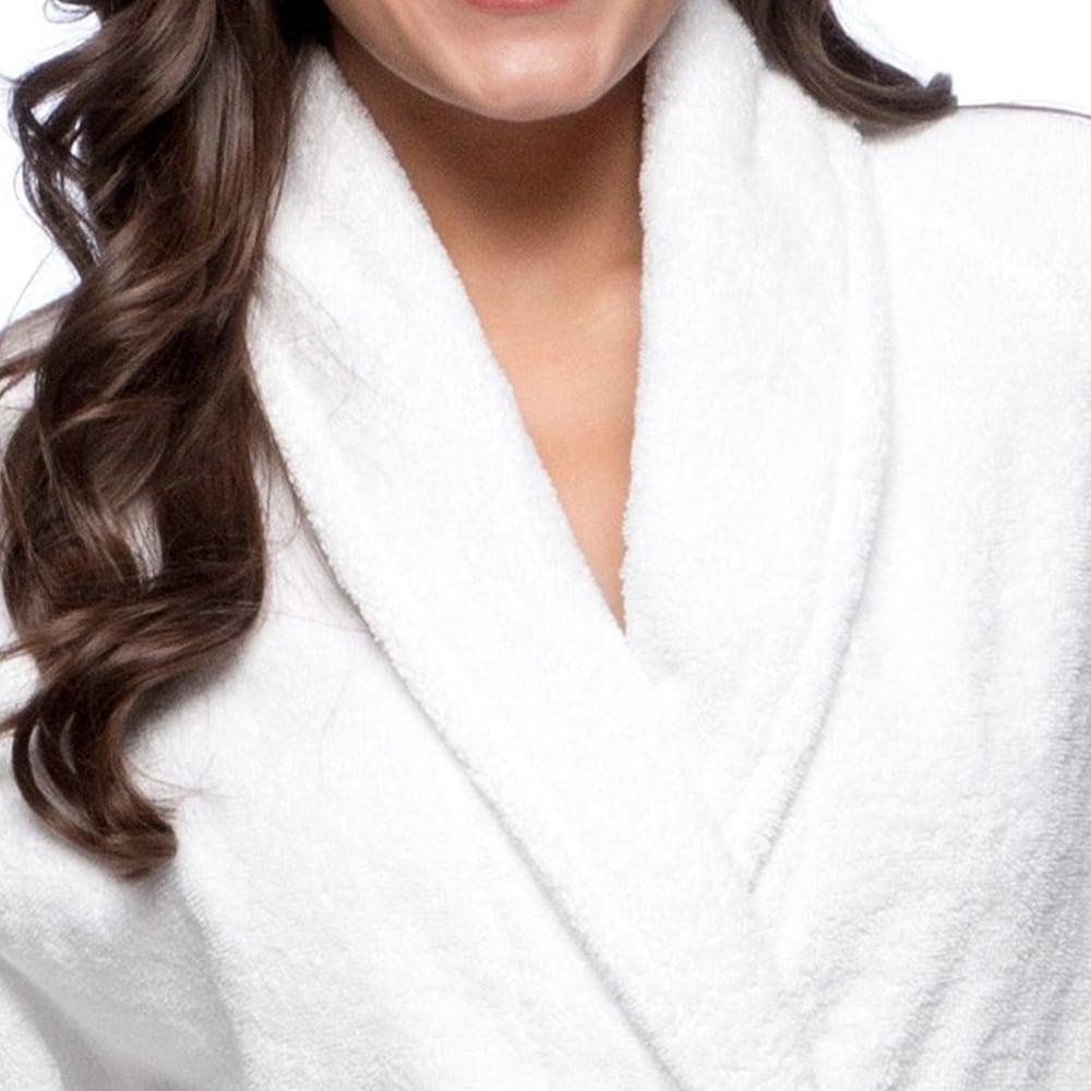 Luxury Mocha Women Men Pure 100/% Egyptian Cotton Shawl Collar Bath Robe Large//XL