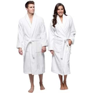 Salbakos Bright White Shawl Collar Turkish Combed Cotton Terry Bath Robe|https://ak1.ostkcdn.com/images/products/6722011/P14270488.jpg?impolicy=medium