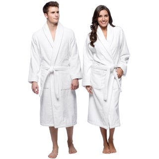 Classic Turkish Towel Shawl Collar Full Terry Cotton Bath Robe 400GSM