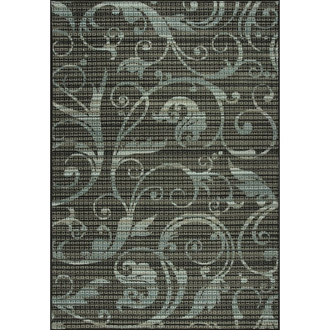 Somette Inspiration Woven Blue Rug (5' x 7')