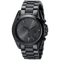 Michael Kors Men's  Bradshaw Black Stainless Steel Watch