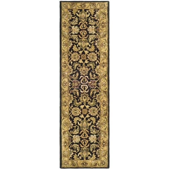 Safavieh Handmade Traditions Black/ Light Brown Wool Runner (2'3 x 10')