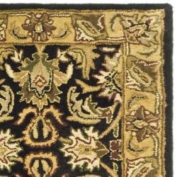 Safavieh Handmade Traditions Black/ Light Brown Wool Runner (2'3 x 10') - Thumbnail 1