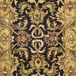 Safavieh Handmade Traditions Black/ Light Brown Wool Runner (2'3 x 10') - Thumbnail 2