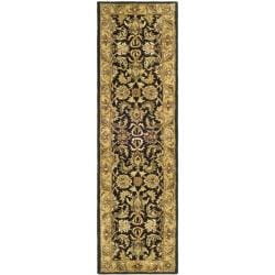 Safavieh Handmade Traditions Black/ Light Brown Wool Runner (2'3 x 10') - Thumbnail 0
