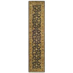 Safavieh Handmade Classic Black/ Gold Wool Runner (2'3 x 8')