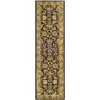 Safavieh Handmade Traditions Black/ Light Brown Wool Runner Rug - 2'3 x 12'