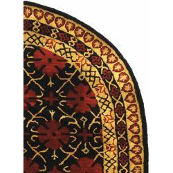 Safavieh Handmade Classic Agra Maroon Wool Rug (7'6 x 9'6 Oval) - Thumbnail 1