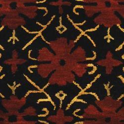 Safavieh Handmade Classic Agra Maroon Wool Rug (7'6 x 9'6 Oval) - Thumbnail 2