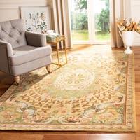 "Safavieh Handmade Classic Empire Taupe/ Light Green Wool Rug - 9'6"" x 13'6"""