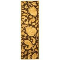 Safavieh Handmade Classic Paisley Brown Wool Runner (2'3 x 10')