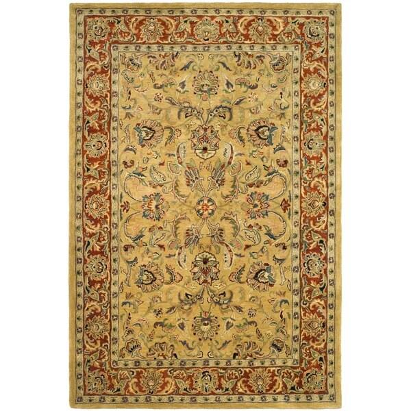 Safavieh Handmade Amol Gold/ Red Wool Rug (7'6 x 9'6)