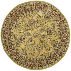 Safavieh Handmade Amol Gold/ Red Wool Rug (8' Round)