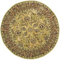 Safavieh Handmade Amol Gold/ Red Wool Rug - 8' x 8' Round