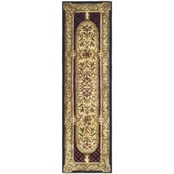Safavieh Handmade Classic Black/ Beige Wool Runner (2'3 x 10')