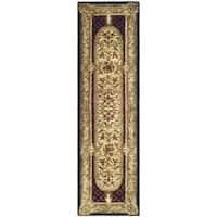 Safavieh Handmade Classic Black/ Beige Wool Runner Rug - 2'3 x 10'