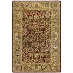 Safavieh Handmade Classic Rust/ Beige Wool Rug - 8'3 x 11' - Thumbnail 0