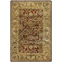 Safavieh Handmade Classic Rust/ Beige Wool Rug - 8'3 x 11'