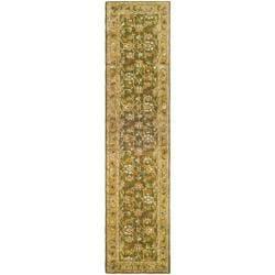 Safavieh Handmade Classic Olive/ Beige Wool Rug (2'3 x 8')