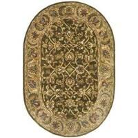 "Safavieh Handmade Classic Olive/ Beige Wool Rug - 7'6"" x 9'6"" oval"