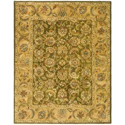 Safavieh Handmade Classic Olive/ Beige Wool Rug (8'3 x 11')