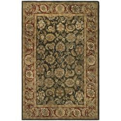 Safavieh Handmade Classic Dark Olive/ Red Wool Rug (9'6 x 13'6)
